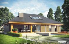 Projekt Gabriel G1 ENERGO - nowoczesny dom z możliwością rozbudowy : styl nowoczesne, w kategorii Domy zaprojektowany przez Pracownia Projektowa ARCHIPELAG