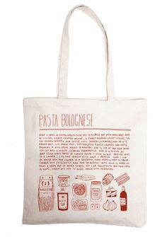 pasta bolgnese - grocery bag