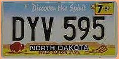 US Nummernschild North Dakota - Discover the Spirit - original - Hausnummern und Schilder online kaufen