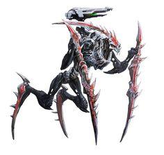 Makuta Krika by GeniusFetus on DeviantArt Alien Concept Art, Creature Concept Art, Bionicle Heroes, Lego Bionicle, Monster Design, Monster Art, Weird Creatures, Fantasy Creatures, League Of Legends