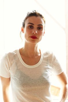 Want to bring your casual fresh-faced and white tee look to the next-level? Just opt for a classic matte red lip! Not only is it an easy way to add color and boost your mood, but it also transitions well into a night out with friends.