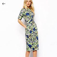 c5ef983593418 Asos Retro Floral Wiggle Pencil Dress Asos Wiggle Dress, Modest Dresses,  Cute Dresses,