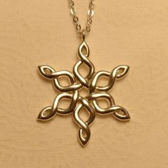 Celtic Snowflake. Sterling Silver is $89.00. (Need to ask them on Instagram if they would do it in Stainless Steel, and if so how much.