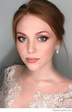Concepts For Pure Bridal Make-up ❤ See extra: www.weddingforwar… Concepts For Pure Bridal Make-up ❤ See extra: www.weddingforwar… Concepts For Pure Bridal Make-up ❤ See extra: www. Wedding Makeup For Blue Eyes, Wedding Makeup For Brunettes, Wedding Day Makeup, Bridal Makeup Looks, Bridal Hair And Makeup, Wedding Makeup Redhead, Wedding Bride, Romantic Wedding Makeup, Vintage Wedding Makeup