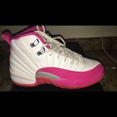 100% authentic 55989 fc16b Jordan Shoes   Kids Hot Pink   White Jordans.   Color  Pink White   Size   4.5bb