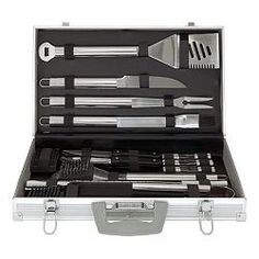 Gifts for Him: 30-Piece Grilling Tool Set - Ya right - who's cooking...