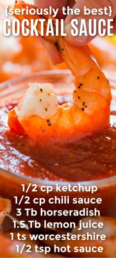 How to make shrimp cocktail sauce - homemade is so easy and seriously the best. You won't want store-bought cocktail sauce again. This is our favorite shrimp dipping sauce. Make it for Valentine's Day! Home Decor Shrimp Cocktail Sauce Recipe Sauce Recipes, Fish Recipes, Seafood Recipes, Cooking Recipes, Dinner Outfits, Shrimp Dipping Sauce, Easy Shrimp Sauce Recipe, Dipping Sauces, Shrimp Cocktail Sauce