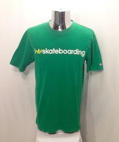 2891d35374e9a 90s ADIDAS SKATEBOARDING T Shirt   Rare Retro The Brand With Three Stripes  I Love Skateboarding