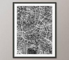 Berlin Map, Berlin Germany City Map, Art Print (3220) by artPause on Etsy