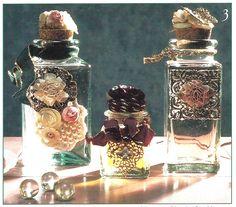 vintage decorated bottles - Google Search. Metal embossed labels
