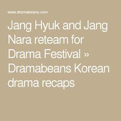 Jang Hyuk and Jang Nara reteam for Drama Festival » Dramabeans Korean drama recaps