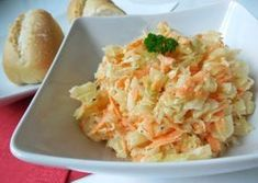 Fotografie článku: Recept na salát coleslaw krok za krokem No Salt Recipes, Low Carb Recipes, Healthy Recipes, Coleslaw, Ham, Potato Salad, Cabbage, Food And Drink, Health Fitness