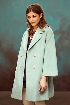 Clovelly Trapeze coat #anthrofave #anthropologie