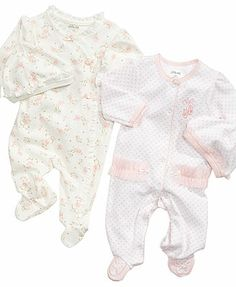 Little Me Baby Coverall, Baby Girls Coverall with Matching Hat