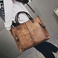 Fashion Brand Women Sac Girl Shoulder Bags Vintage European Leather Female Handbag