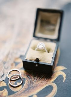 Classic Halo Engagement Ring | Heather Payne Fine Art Photography | http://heyweddinglady.com/enchanted-garden-wedding-colorful-summer-florals/