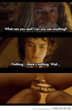 Lol i dont even like lord of the rings but this is too funny