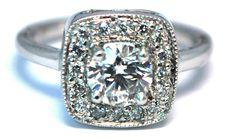 Custom Halo Diamond Ring
