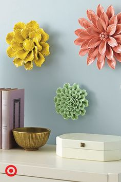 So what if fresh flowers don't appear at the snap of your fingers. You can always use a Threshold wall sculpture to keep that living room in bloom. Check out all the floral shapes and colors for your home.