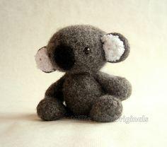 Felted Wool Koala Crochet Plush Toy by MillieFern on Etsy, $41.00