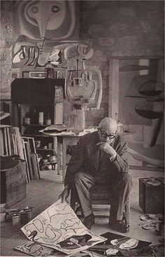 Le Corbusier_Cartier Bresson, 1952
