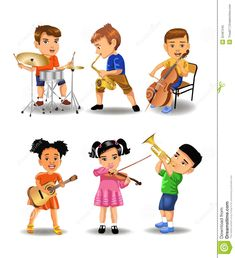 children playing musical instruments clipart - Hľadať Googlom