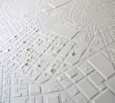 Cut Paper / Stephanie Beck, architectural model, maquette, modelo