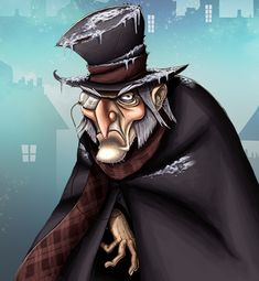 Ebenezer Scrooge. Illustration for a slot machine I did.