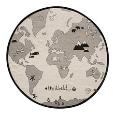 Tapis The Rug World / Mappemonde World Map Rug, World Map Design, Nursery Rugs, Nursery Decor, Room Decor, Save The Polar Bears, Design Japonais, Tapis Design, Modern Kids