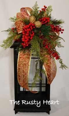 how to make a christmas lantern swag - Google Search