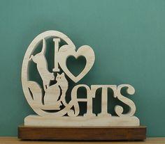 Amo i gatti scrivania segno regalo unico taglio sulla