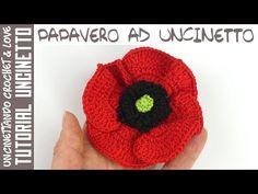 Tutorial Papavero ad Uncinetto (sub. y esp. Diy Crochet Pillow, Crochet Art, Irish Crochet, Crochet Patterns, Crochet Poppy, Crochet Flowers, Crochet Table Runner Pattern, Crochet Flower Tutorial, Crochet Ornaments