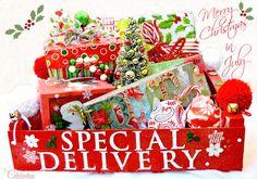 Christmas in July! Fruit Crate Gift Carrier via @Cindy Eikenberg (littlemisscelebration)