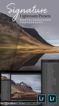 Lightroom Presets for dark and moody landscape and travel photography – Northlandscapes Signature Collection. Ideal for photos taken in Nordic countries like Iceland, Norway, Finland, Canada or the Faroe Islands. Photoshop Video, Photoshop Tutorial, Photoshop Actions, Video Editing, Landscape Photos, Landscape Photography, Travel Photography, Photography Tips, Inspiring Photography