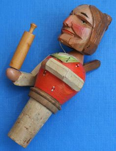 Love her! Cork Stoppers, Bottle Stoppers, Shade Trees, Wood Carvings, Benches, Hand Carved, Barware, Workshop, Collection