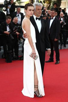 Actress Kasia Smutniak in a total Fendi look at The Cannes Film Festival