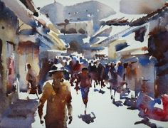 Artwork by Trevor Lingard: Teaching course at The Watermill, Posara, Tuscany