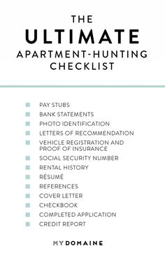 13 Things You Should Bring When Looking at a Rental - - Not sure what to bring when apartment hunting? Keep reading for the ultimate apartment hunting checklist. New Apartment Checklist, First Apartment Checklist, First Apartment Essentials, Apartment Hunting, 1st Apartment, Apartment Ideas, Apartment Living, Apartment Must Haves, Austin Apartment
