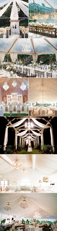 Rain or Shine, the Wedding is on! 40 Beautiful Ways to Decorate Your Wedding Tent!