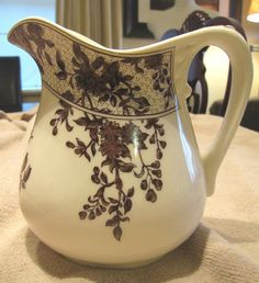 English Country Vintage Brown And Cream by VintagenutsInc on Etsy, $45.00