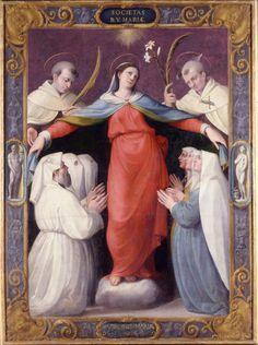 Madonna della Misericordia « Galleria Nazionale - JACOPO ZANGUIDI, DETTO BERTOJA ( XVI secolo ).