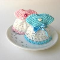 Crochet Mini Dress Baby Shower - via @Craftsy