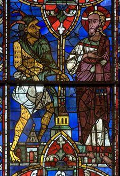 Stained glass - La tentation du Christ (cathédrale de Chartres)