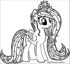 Pony Cartoon My Little Pony Coloring Page 114