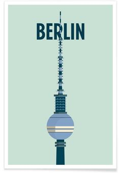 Berlin als Premium Poster von Designliga Products | JUNIQE