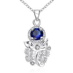 Hoy con el 63% de descuento. Llévalo por solo $11,000.N122-A 925 joyería de plata plateado collar estrenar Diseño Collares colgante para las mujeres.