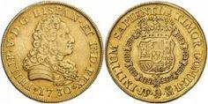 reinado de Felipe V es esta onza de Madrid de 1730 (lote nº 210),