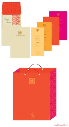 Indian Wedding Cards & Samples: Go for Youthful and Bright colours this Summer! designed by www.beyondesign.in