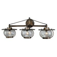 "Vaxcel Lighting VL25503 Transitional Three Light Down Lighting 28"" Wide Bathroom Fixture from the Orleans Collection"