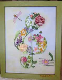 Tambour Embroidery, Shirt Embroidery, Silk Ribbon Embroidery, Hand Embroidery Patterns, Embroidery Boutique, Music Crafts, Thread Painting, Brazilian Embroidery, Ribbon Art